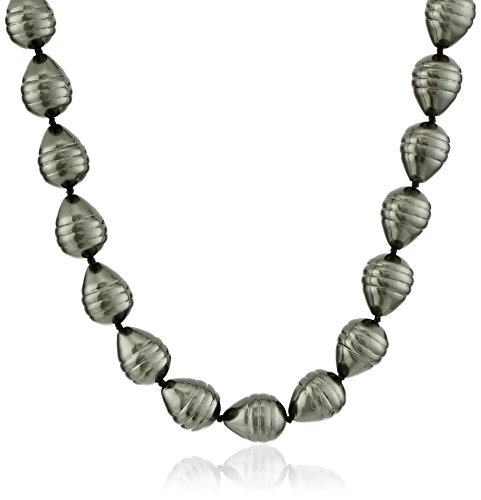 Sterling Silver Simulated Baroque Necklace