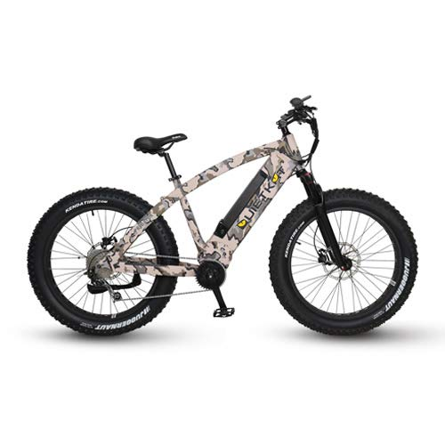QuietKat 2019 Predator 750W Electric Bike for Backcountry, Hunting and Fishing- Bafang Mid Drive Motor, 9-Speed Gear, Hydraulic Disc Brake - Camo, 19