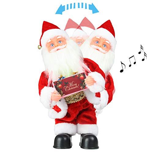 LYCXC Musical Santa Claus Plush Toy Christmas Santa Claus Doll Singing Dancing Electric Santa Claus Music Box Xmas Gift for Kids ()
