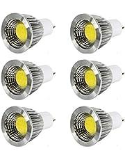 مجموعة من عدد 6 لمبة شوكة سبوت - 5 وات - سي أو بي - إضاءة صفراء دافىء