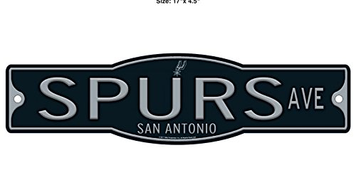 San Antonio Spurs Basketball Plastic 4 x 17 Street Sign by WinCraft