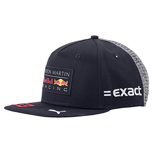 Red Bull Racing Hat - Red Bull Racing F1 Max Verstappen Flatbrim Team Hat Navy