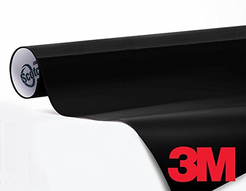 3M 1080 Gloss Black Air-Release Vinyl Wrap Roll (1/2ft x 5ft)