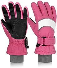 Unigear Kids Ski Gloves, Waterproof Winter Cold Weather Snowboard Snow Gloves, Fit Both Boys & G