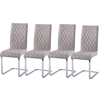 Table 4 Grey Chairs Table With 3 Legs Gizza Transparent Round Glass Dining Table And 4 Distressed Leather Chairs Crisscrossing Legs Restaurant Kitchen Room Table Sets Furniture Dining Room Sets