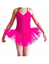 Cocobla Girls' Camisole Leotard Ballet Dancing Tutu Skirt Fancy Fairy Gymnastics