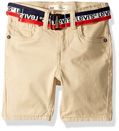 Jean Shorts Belted - Levi's Boys' Toddler 511 Slim Fit Soft Brushed Shorts, Beige Belted 3T