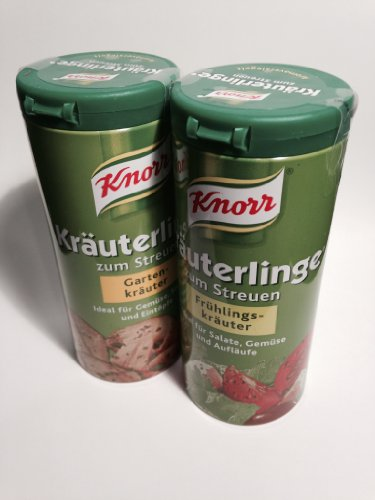Knorr Garden (1x) & Spring Herbs (1x) Seasoning Mix (Knorr Kräuterlinge Gartenkräuter & Frühlingskräuter, 2.1oz - 60g) ()