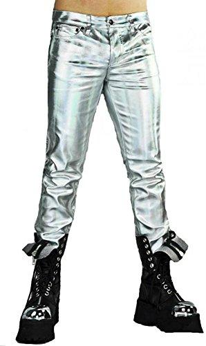 Lip-Service-Silver-Space-Biker-Punk-Rocker-Rockabilly-oi-Skinny-Jeans-Pants