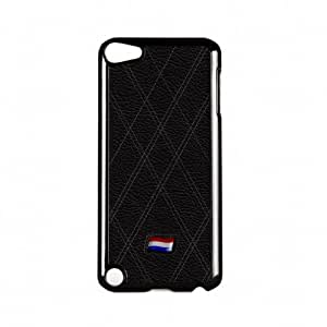 Netherlands Flag on Stylish Black Leather - Flag of Holland - Dutch Flag Black Hard Plastic Case Snap-On Protective Back Cover for Apple? iPod Touch 5th Gen by UltraFlags + FREE Crystal Clear Screen Protector
