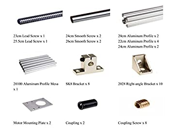 Amazon com: Parts and Components Kit for DIY CNC 3 Axis