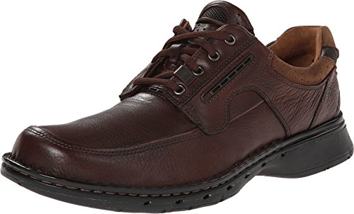 Clarks Men's Un.bend Brown Leather Oxford 11.5 B - Narrow by CLARKS