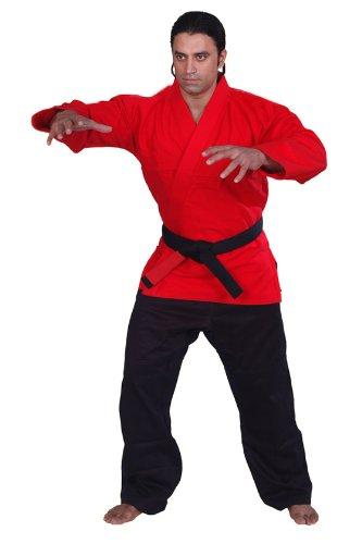 BJJ着物Jiu Jitsu Judo Gi学生レッドカラー7 a5 noロゴ B00EKV9KTM