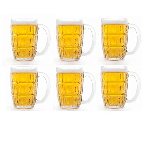 Kosh Lucky Thailand Beer Mug Glass Set  400 ml, Clear    Pack of 2