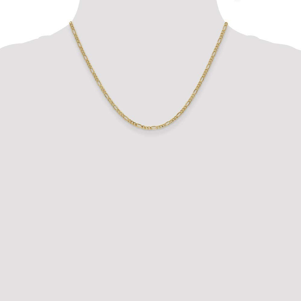 Roy Rose Jewelry 10K Yellow Gold 2.5mm Figaro Chain ~ length 18 inches