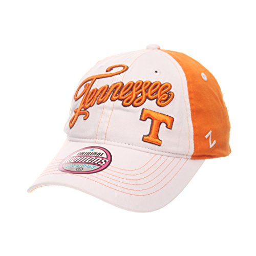 - ZHATS NCAA Tennessee Volunteers Adult Women Vogue Women's Relaxed Hat, Adjustable, White/Team Color