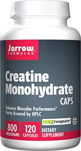 Jarrow Formulas Creatine Monohydrate Caps, Sports Nutrition, 800 mg, 120 Caps