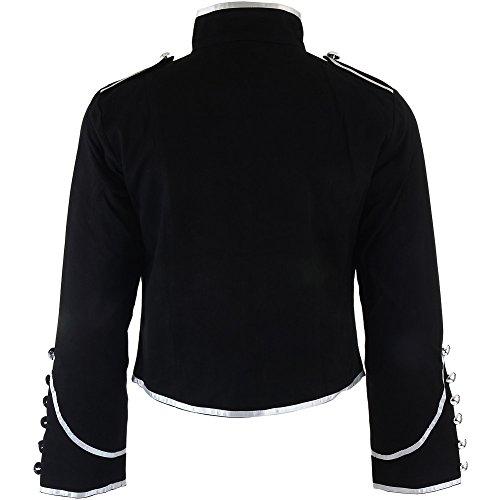 Banned argento nero Militare Giacca Nero 8tq8r