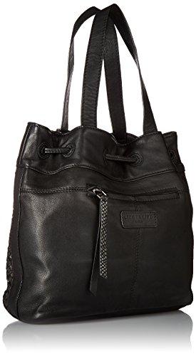 Liebeskind Berlin Women's Topeka Leather Snakeskin Handwoven Bucket Bag, Oil Black by Liebeskind Berlin (Image #2)