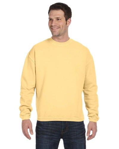 Authentic Pigment 11 Oz. Pigment-Dyed Ringspun Cotton Fleece Crew (11561)- Goldenrod,XX-Large