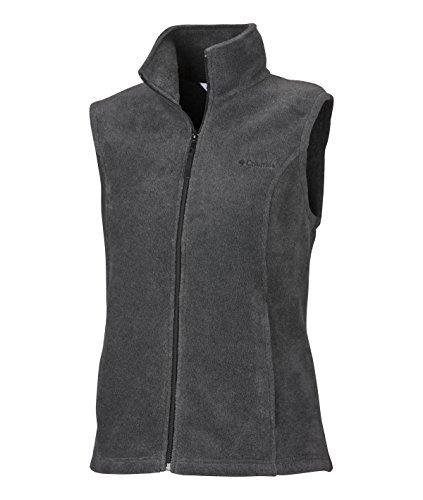 Columbia Women's Benton Springs Vest, 1X, Charcoal/Heather
