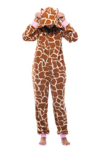 Girls Animal Print Onesie (Just Love 6453-10213-M Adult Onesie with Animal)