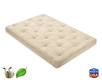 3 Inch Pure Wool Mattress Full XL by Comfort Pure