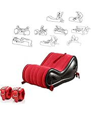 Sex air Mattress Multifunctional Sexsofa, Yoga, Sun, SM Bondage Yoga Chair, Sex Pillows, Handcuffs Ankles, Suitable for Home, Travel, Suitable for Couple Sex Life