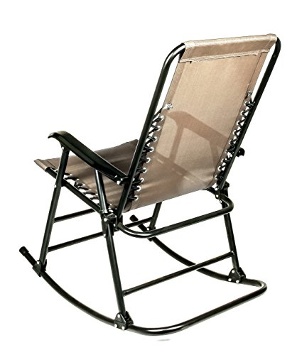 Camco 51851 Tan Folding Rocking Director S Chair