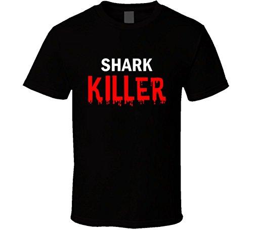 Mens Shark Killer Shark (Shark Killer Fun Essential Foodie Food Gift T Shirt S Black)