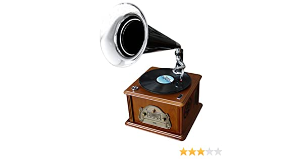 Soundmaster NR 912 - Tocadiscos para equipo de audio (50 W, Corriente alterna, 230 V, 50 Hz, Madera), marrón
