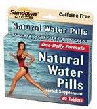 Sundown Naturals Natural Water Pills Herbal Supplement Tablets, 60-Count