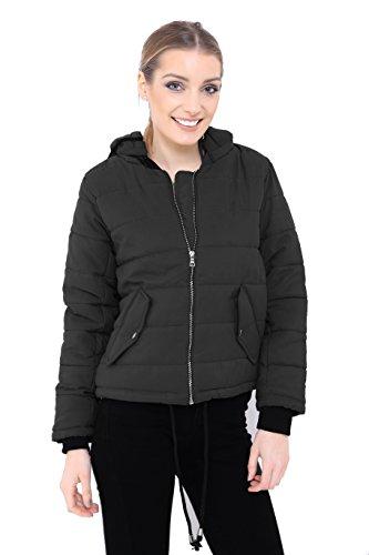 negro mujer chaqueta guateada Chaqueta Fashion para Generation YqTXzz