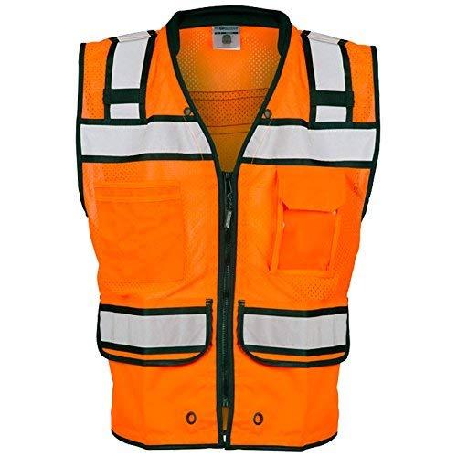 ML Kishigo - Economy Zipper Surveyor's Vest, Color: Orange, Size: 4X-large