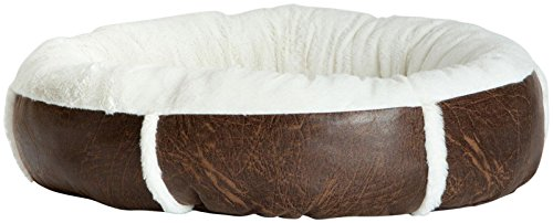 Best Friends by Sheri Round Bumper In Faux Leather - Dark Brown - Medium