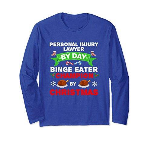 Unisex Personal Injury Lawyer Eater Long Sleeve T Shirt Christmas 2Xl Royal Blue