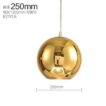 LED moderno cromo Oro Cobre Globo de Cristal Colgante bola redonda ...