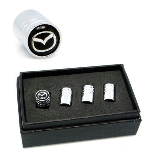 4pcs VA057 Chrome Car Styling Accessories Wheel Tire Valve Caps Stem Air For MAZDA 2 3 6 ATENZA AXELA CX-5 CX-7 CX-8