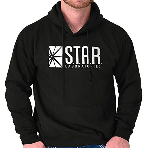 - Star Labs Comic Book Superhero Nerdy Geeky Hoodie Black