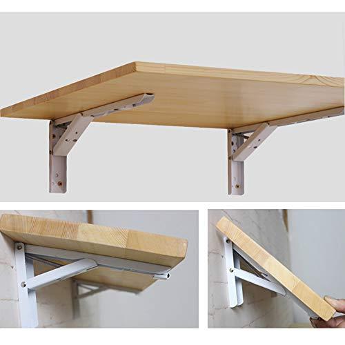 Väggmonterat bord GCDW importerad gran, miljöskydd och hälsa, hopfällbart metallfäste, färgprocess, belastning 15 kg, originalträfärg, med installationstillbehör