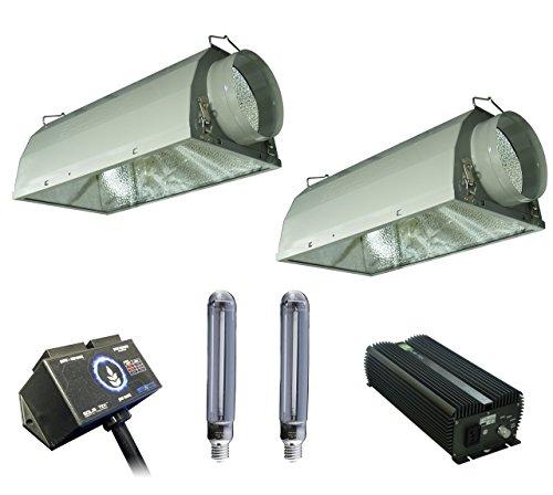 SolisTek Combo: 1000w Ballast, HPS Bulbs, 6'' Reflectors, & Digital Splitter by Solis Tek