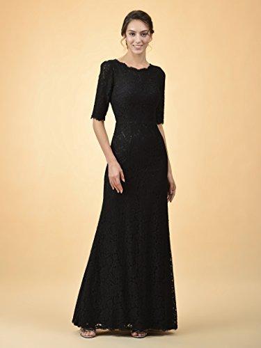 Lace Alicepub Half Prom Sleeved Dark Navy Dress Party Evening Gown Mermaid Bridesmaid Long 1XB4BrE