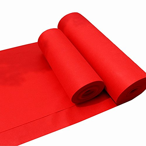 """sexyrobot Disposable Red Carpet Runner, Wedding Accessories, 39"""" by 66' (Wedding Red Carpet)"""