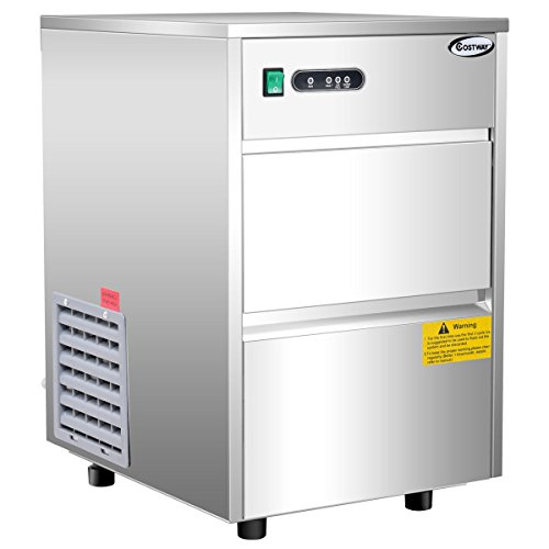 Costway Stainless Steel Commercial Automatic Ice Maker Portable Freestanding Ice Machine, 58LB/24h -  23363-CYPE-CS
