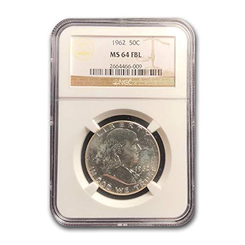 1962 Franklin Half Dollar MS-64 NGC (FBL) Half Dollar MS-64 ()