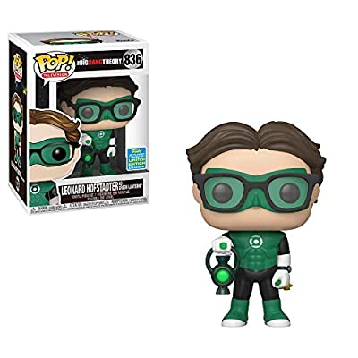 Funko POP TV: Big Bang Theory - Leonard as Green Lantern (Justice League Halloween) - Summer Convention Exclusive: Toys & Games