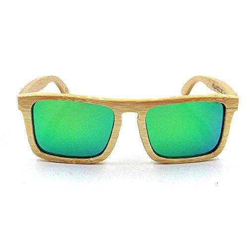 para De Gububi Uso Cuadrado al Gafas Color Lente protección Unisex para Color a Fines Aire de Diario de Libre UV400 Cuadrado de y múltiples Adecuado Marco Hecho Verde Marrón Madera Mano Adulto Sol dwrwSpHq