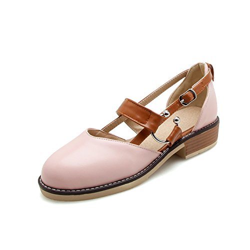 Sandali Caviglia Pink MEI amp;S Tacco Cinturino Donna alla Basso nnfqT07w