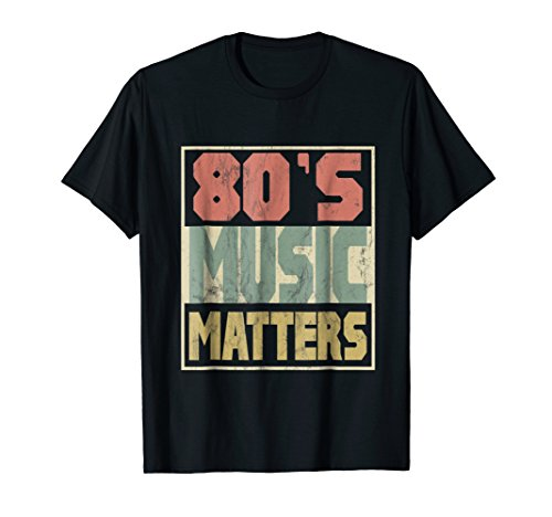 (80s Music Matters Tshirt Vintage 80s Style Retro Colors Tee)