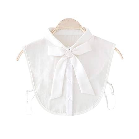 yifeict mujeres New bow cuello camisa falso cuello corbata Vintage ...
